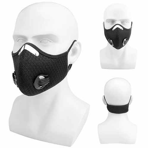 Antifog/dust/droplets Facemask + gratis 2 filters