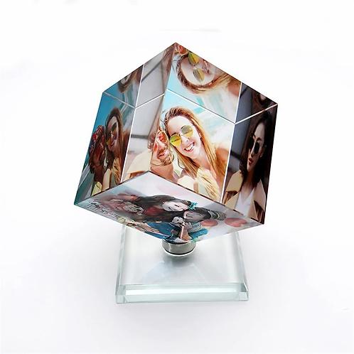 Gepersonalisserde in glass gegraveerde  foto ( met text )