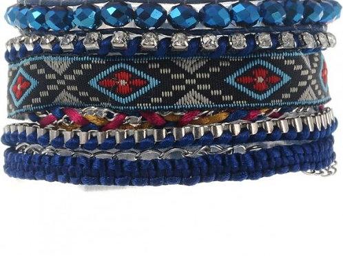 Coachella armband blauw