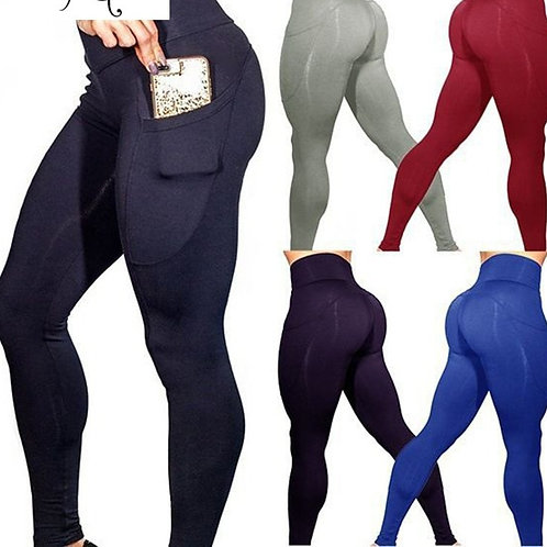 High Waist Fitness Leggings  Side Pocket