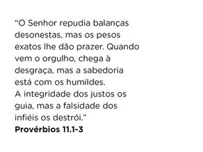 Provérbios 11.1-3
