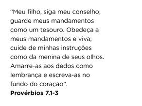 Provérbios 7.1-3