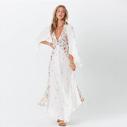 Boho style print dress