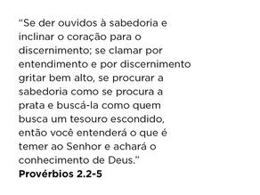 Provérbios 2.2-5