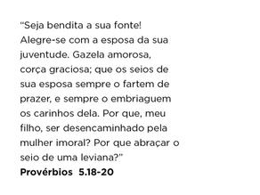 Provérbios 5.18-20