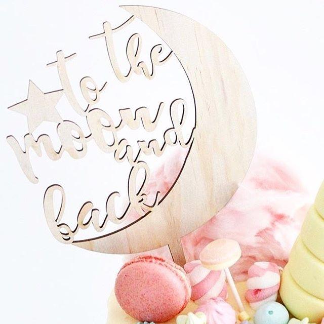 1-st Birthday Love ❤️ #loveyoutothemoon #andback #estwoodyart #käsitöö #woodcraft #torditopper