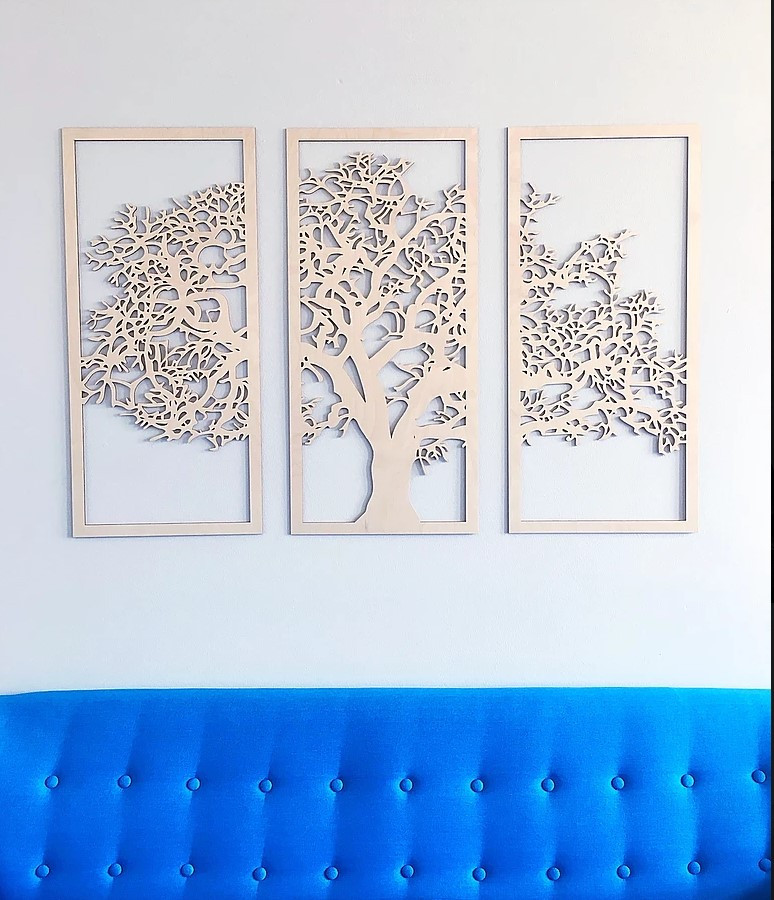 "Seinadekoratsioon ""Tree 1."" naturaalne värvimata"