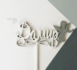 😇для крошки Дамира #Дамир #estwoodyart #caketopper #tehtudEestis #käsitöö #handmade #woodcraft