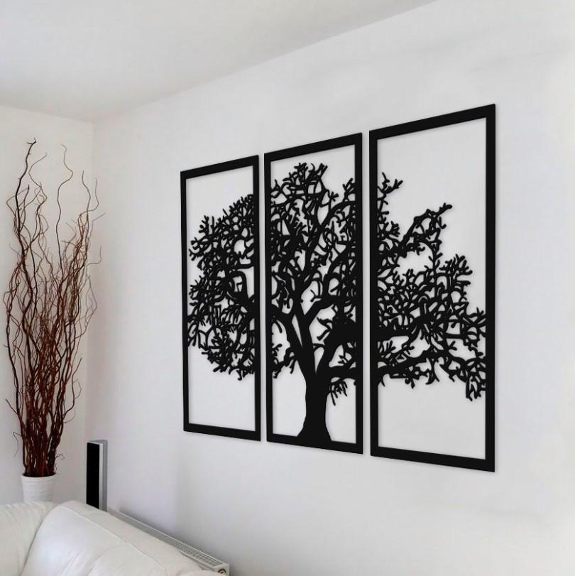"""Seinadekoratsioon """"Tree 1."""" must"""