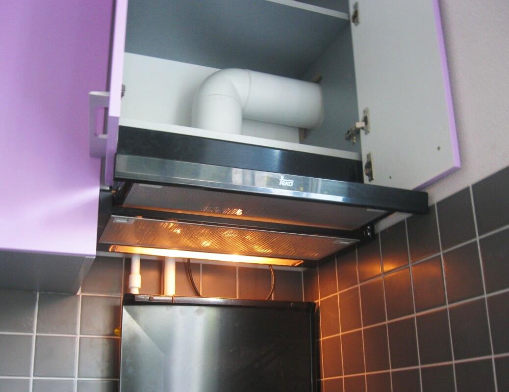 Установка газовой колонки на кухне