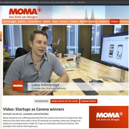 ARD Morgenmagazin - SoTrusty - Startup als Corona-Gewinner!
