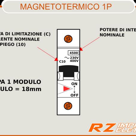 Interruttore automatico magnetotermico in breve.