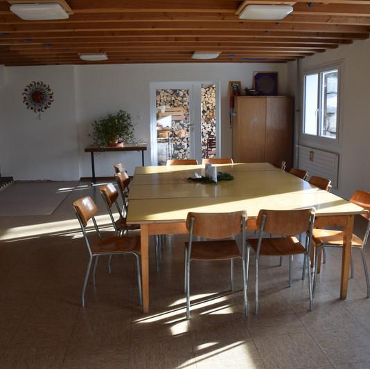 Salle à manger des retraites spirituelle