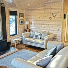 Cabin with log burner