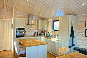 Howden's kitchen with island and stools