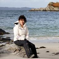 Bianca Wildwood Cabin owner Glen Uig beach