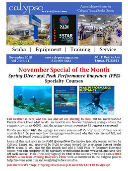 Scuba Newsletter Sample Page 2