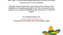 Tacos for Teachers- August 14th