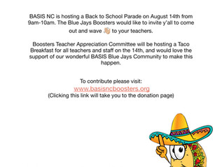 Tacos for Teachers- August 14th