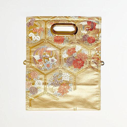 KIMONO Clutch Bag Gold seasonal flofers