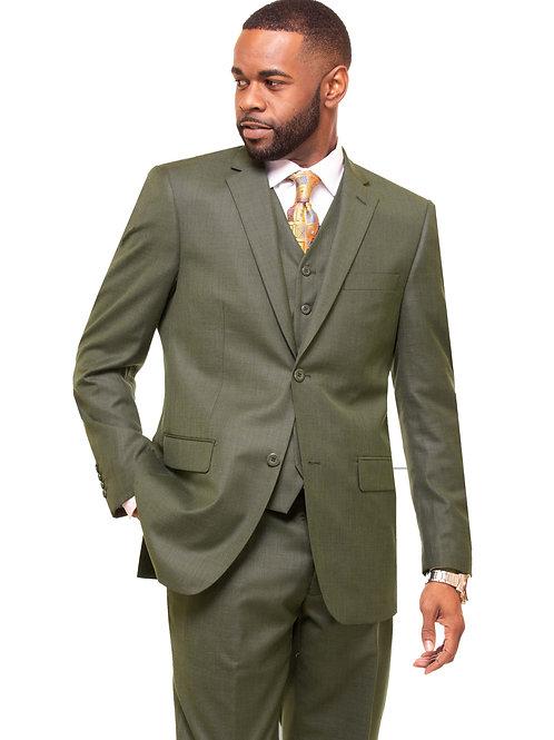 M3090 Olive 3 Piece Suit