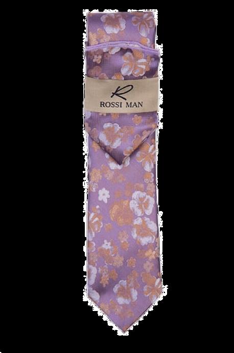 Lavender & Tan Floral Tie