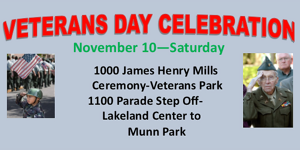 Veteran's Day Ceremony and Parade