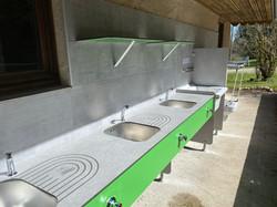 Espace vaisselle - Camping du Bugnon