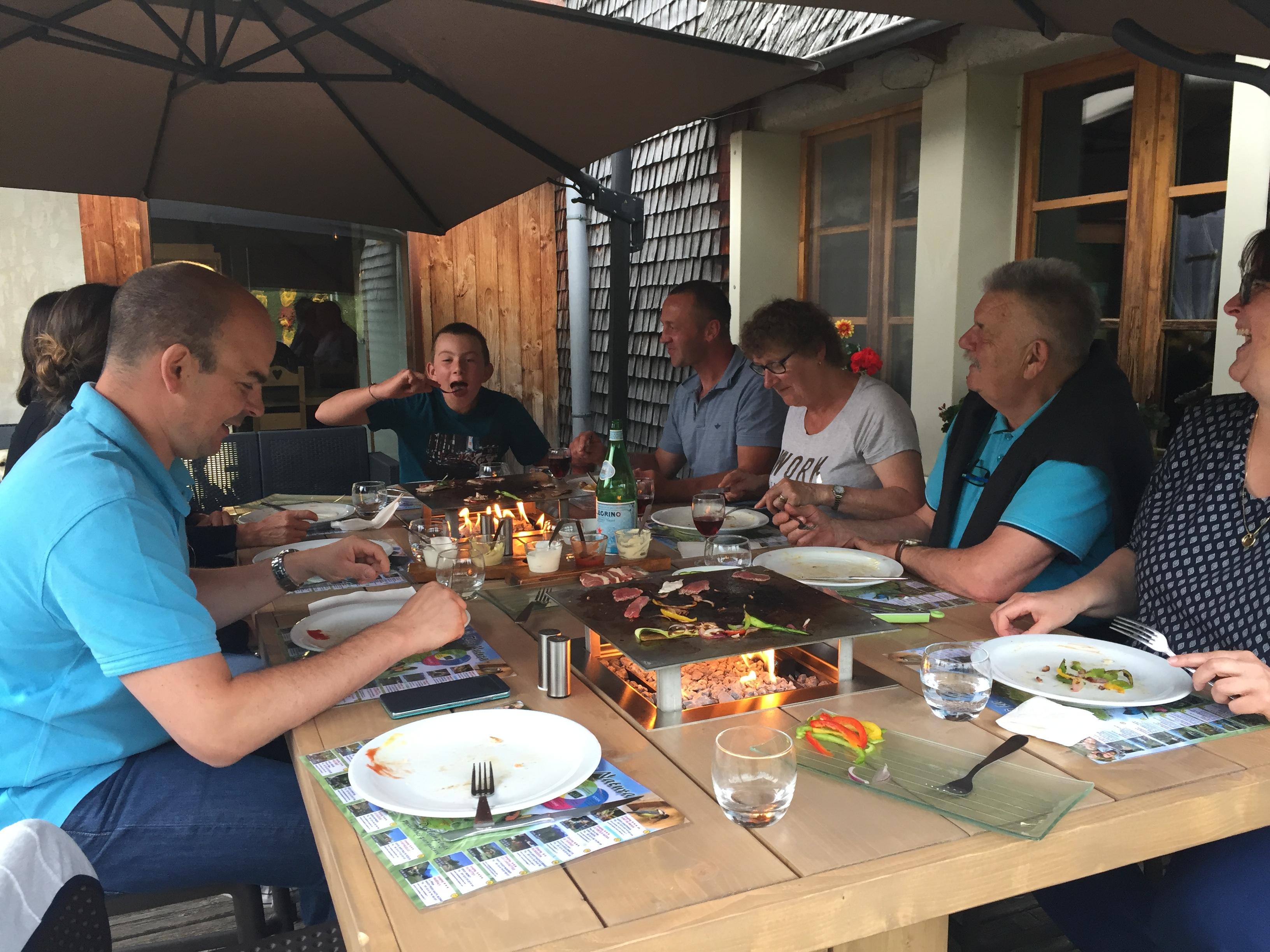 Table à feu - Domaine du bugnon Jura