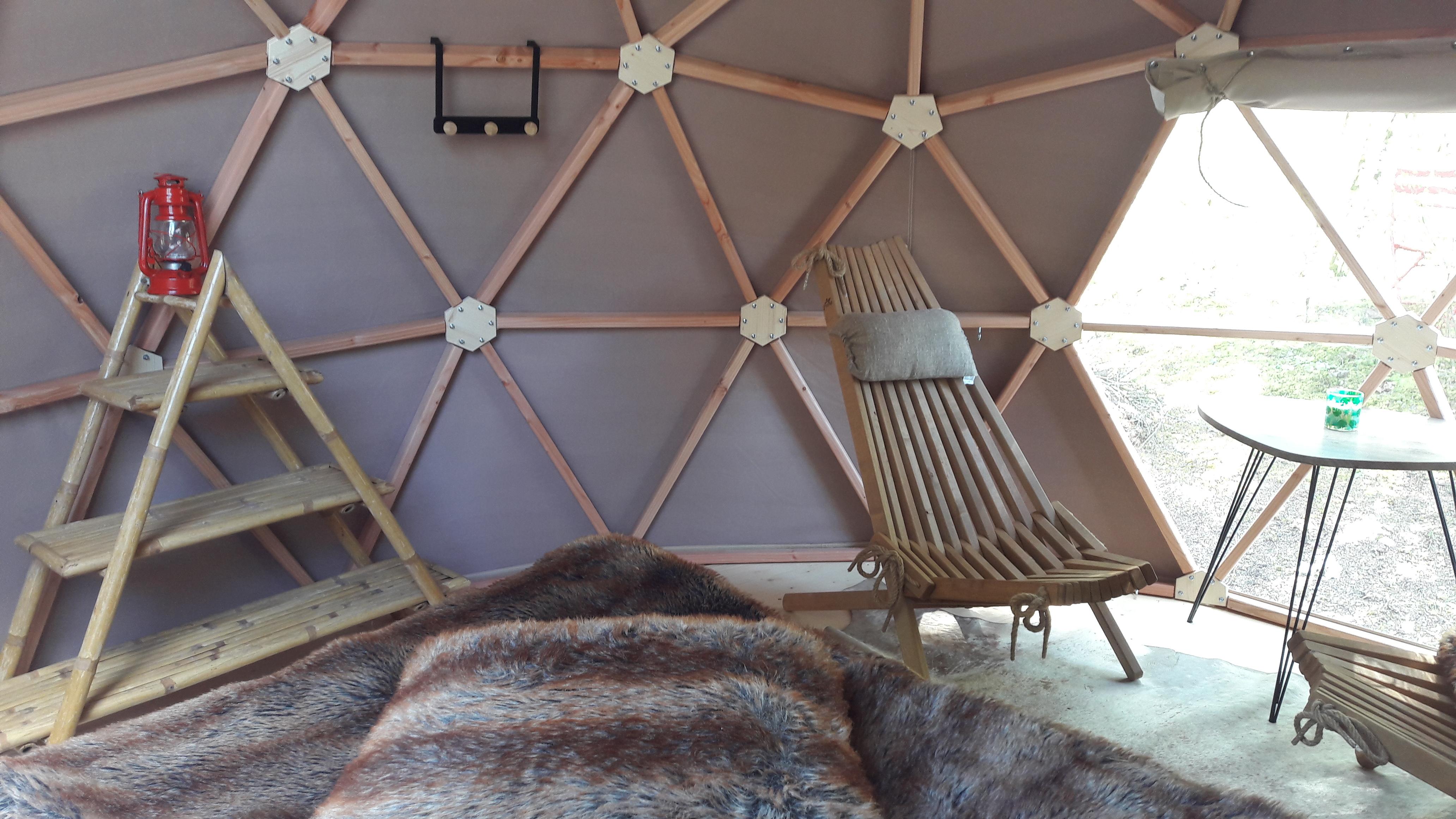 Dome géodésique - Domaine du Bugnon