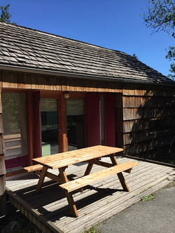 Terrasse avant cottage PMR