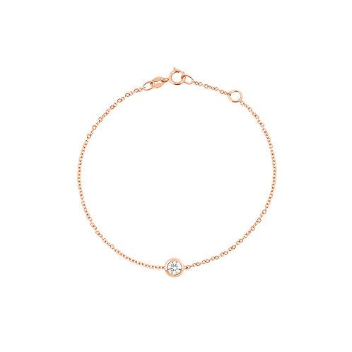 Bracelet en or rose 18 k & diamant