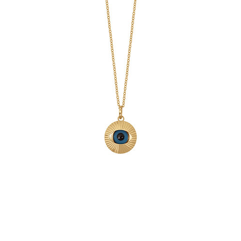 Collier Oeil en or jaune