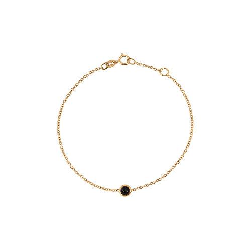 Bracelet chaîne or jaune & pierre