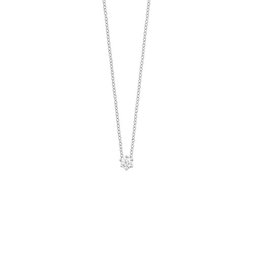 Collier en or blanc 18 k & diamant