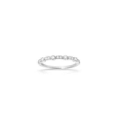 Bague en or blanc 18k & diamants