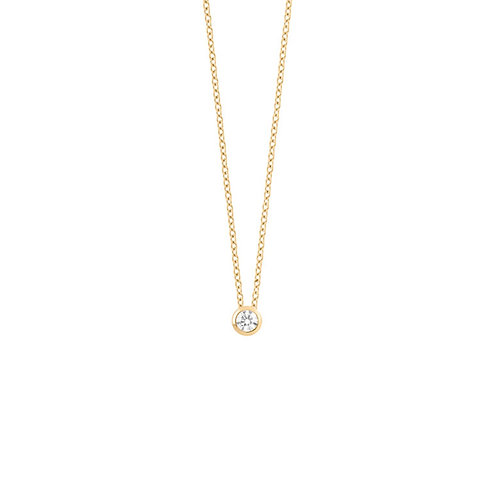 Collier en or jaune 18 k & diamant