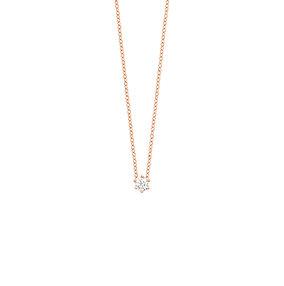 Collier en or rose 18 k & diamant