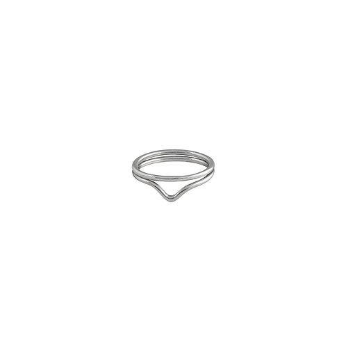 Composition d'anneaux fins en argent 925