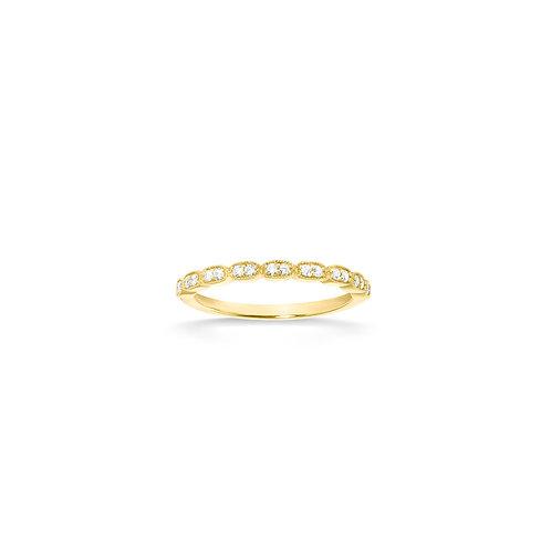 Bague en or jaune 18k & diamants