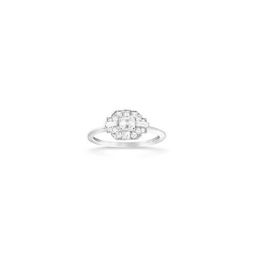 Bague en or blanc 18k & diamants