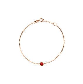 Bracelet chaîne or rose & pierre
