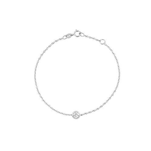 Bracelet en or blanc 18 k & diamant