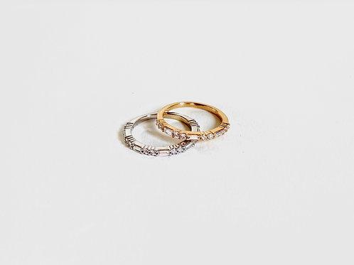 Bague en or jaune 18k diamants