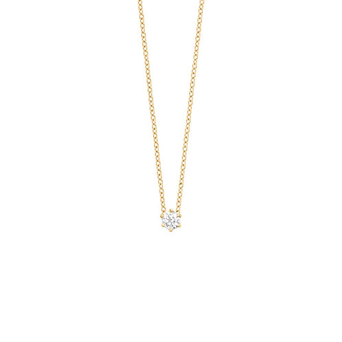 Collier en or jaune 18 k diamant
