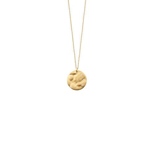 Collier en or jaune 18k & diamants