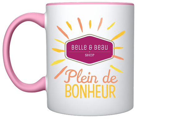 TASSE ESTIVALE ROSE PARADISIAQUE COLLECTOR BELLE & BEAU SHOP