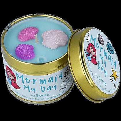Bougie boîte en étain Mermaid My Day