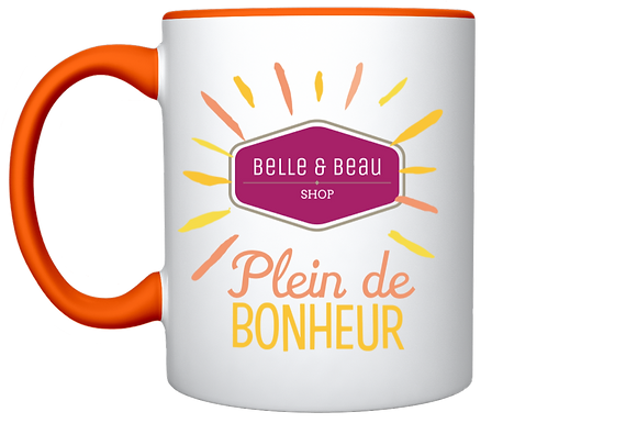 TASSE ESTIVALE ORANGE AGRUMES COLLECTOR BELLE & BEAU SHOP