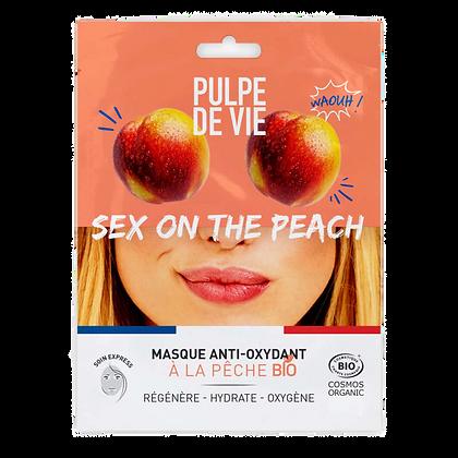 SEX ON THE PEACH MASQUE EN TISSU ANTI-OXYDANT À LA PÊCHE BIO - PULPE DE VIE